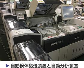 自動検体搬送装置と自動分析装置