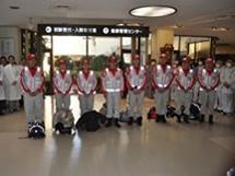 東日本大震災 災害救護隊 出発