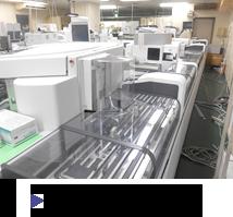 生化学機器と免疫機器の搬送ライン