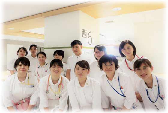 西6病棟(整形外科・リウマチ科)の集合写真